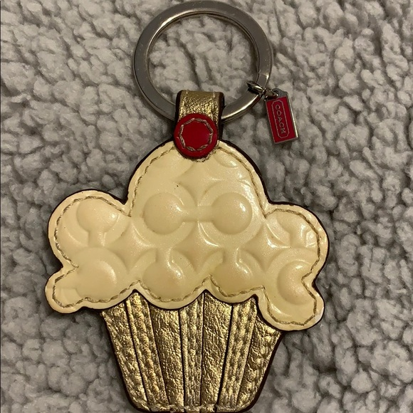 COACH cupcake key ring